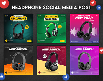 Headphone Social Media Post