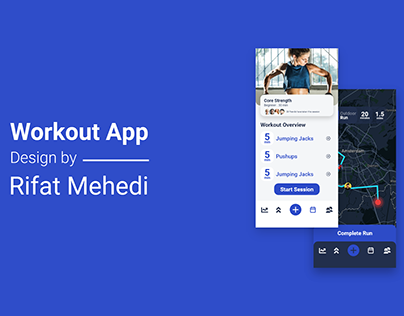 Workout App UI Design Concept
