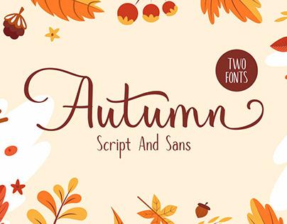Autumn Mood Font Duo