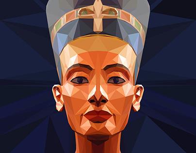 EGYPT _ Nefertiti _ Low Poly Style