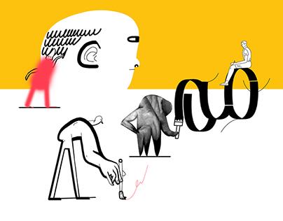 Projector.online illustrations