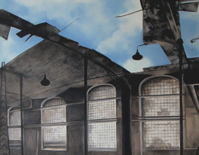 Oleo painting - Factory