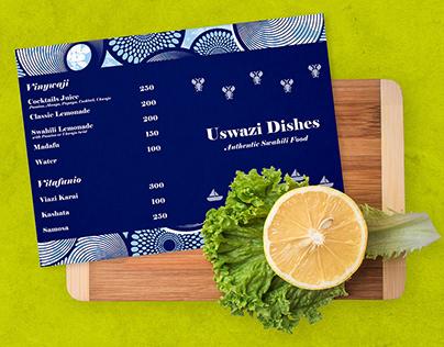 Brand Identity: Uswazi Dishes