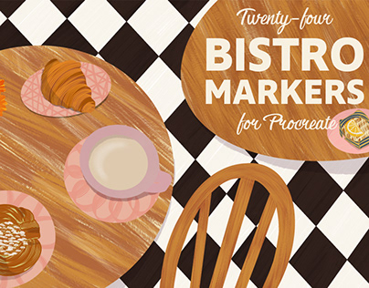 Bistro Markers for Procreate + FREE BRUSHES