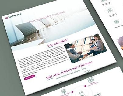 SAP AMS Landing page
