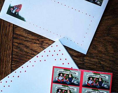 Stamp Illustration for Christmas special Stamp 2020