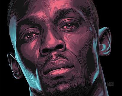 Usain Bolt Vector art