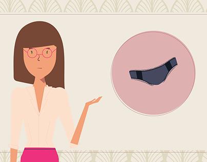 Animated 2D Youtube Ad: Sofia gray underwear market