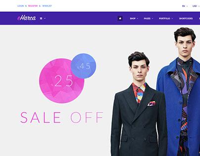 Eharca Online Shopping Psd Template