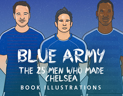 Blue Army CHELSEA Book Illustrations