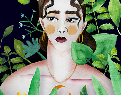 the secret garden – portrait illustration