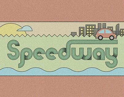 Speedway- SVG Color Font (Free Demo)