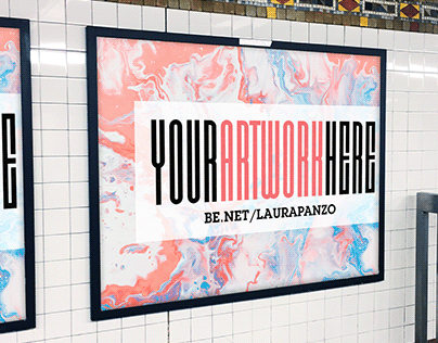 Free NYC Subway Ad Mockup .PSD Set