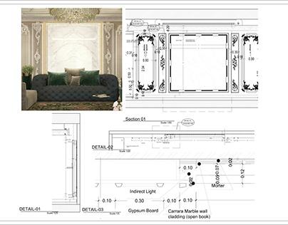 working drawing details @ walls& doors