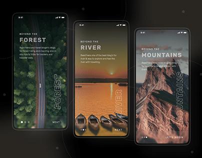 Traveler Blog Community mobile application