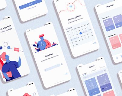 Todait. Time management app. UX/UI