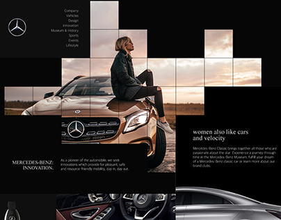Concept Mercedes Website
