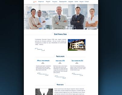 Romanian Patronage Confederation - web design - v. 2