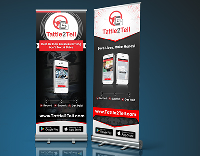 Roll Up Banner for mobile application/ mobile app.