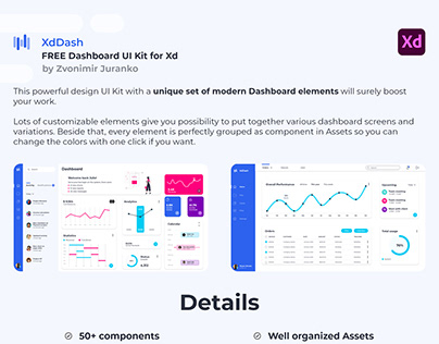 Free XdDash Dashboard UI Kit