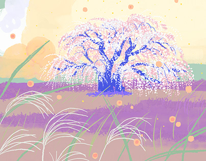 A dreamy spring background