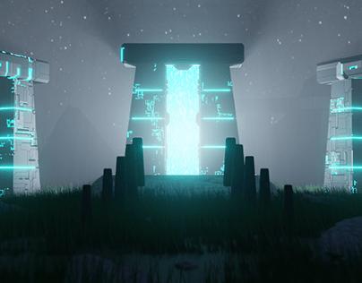 Stonehenge portal animation