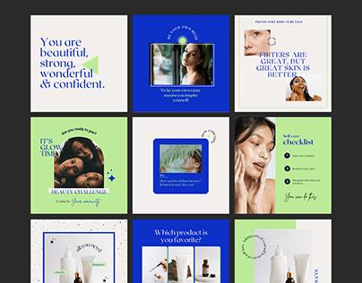 Canva Skincare | Instagram templates