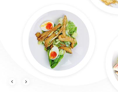 Анимированный слайдер для сайта ресторана