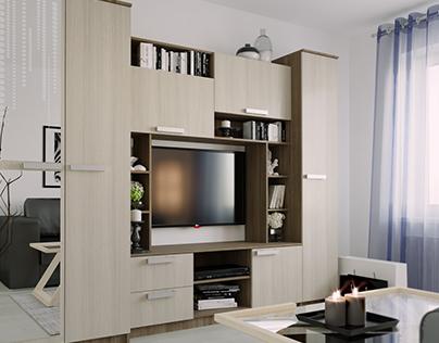Design furniture in the interior