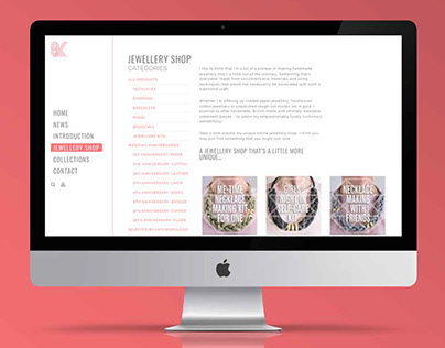 How to Design a Jewellery Website: Saloukee