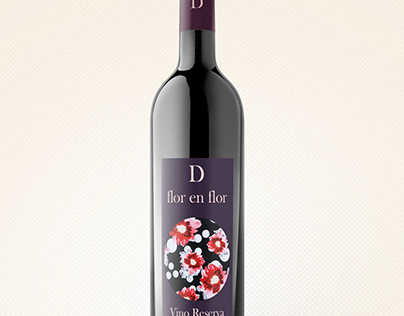 PACKAGING VINO: 'D flor en flor'