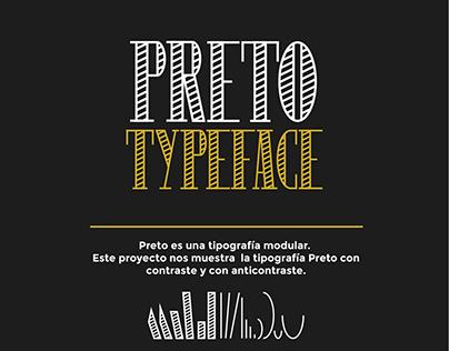 Tipografía Modular - Preto Typeface