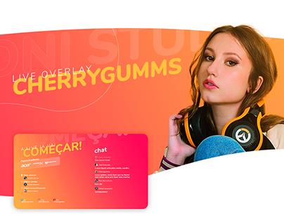 Identidade visual e Overlay - Cherrygumms
