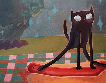 Cat at a Picnic