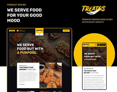 Product Design Case Study- Restaurant Website