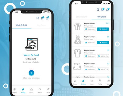 Laundry and Dry Cleaning Mobile App Design