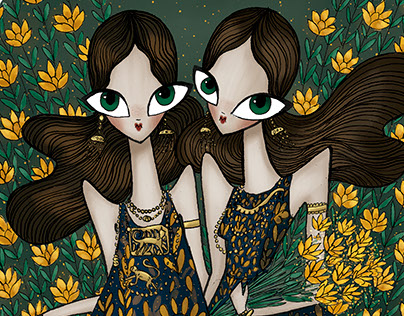 Lanvin fashion illustration