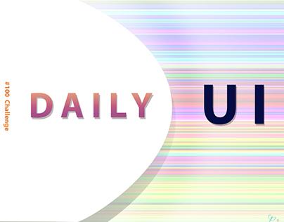 Daily UI Design Challenge #1-20