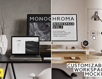 Monochrome Workspace Custom Mockup