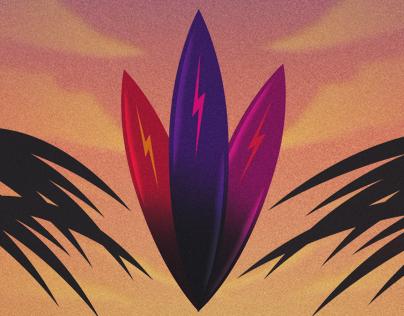Surf Camp Poster Art (Illustration)