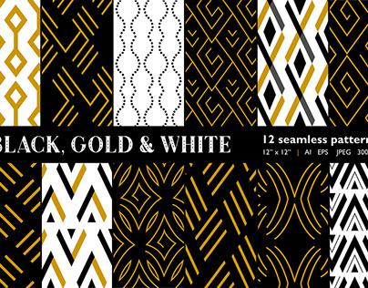 Black, White & Gold patterns
