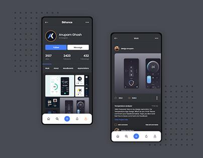 Behance app Dark mode Vol-2