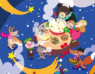 PICTURE BOOK MAGAZINE / cover illustration Vol.12