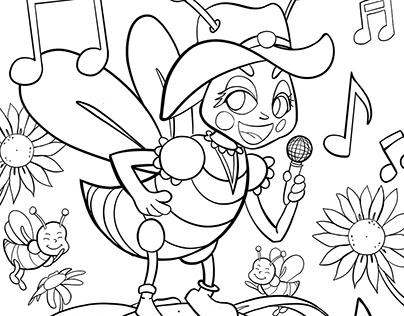 Coloring book pages - Super Secret Hive
