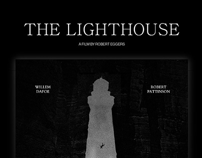 THE LIGHTHOUSE — movie poster