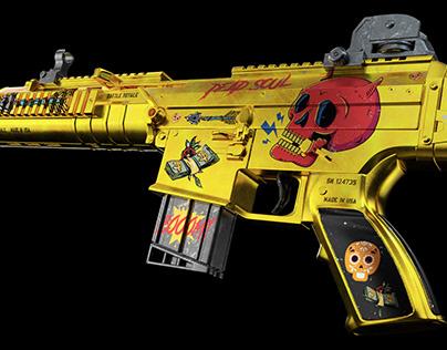 Koch HK416 3D Skin & Render