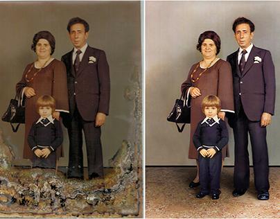 Restauración Fotográfica Familia
