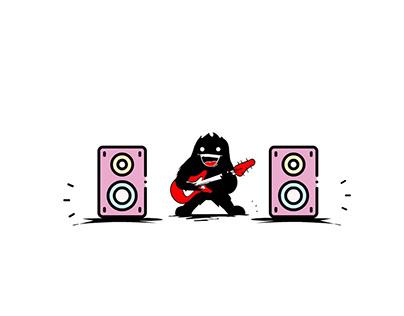 Monster Music Logo Animation
