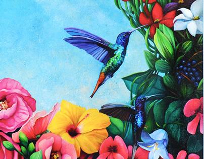 Arkadia. Acrylic on canvas.