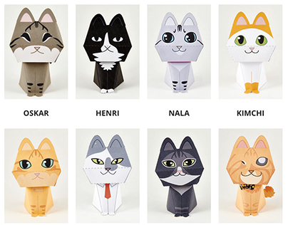 The Purring Quest Papertoy